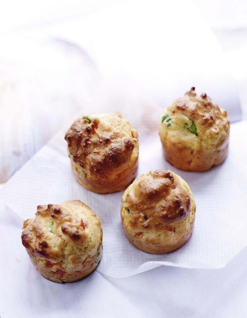 Muffins poivrons cuisiner les l gumes d 39 t elle table - Idee de legumes a cuisiner ...
