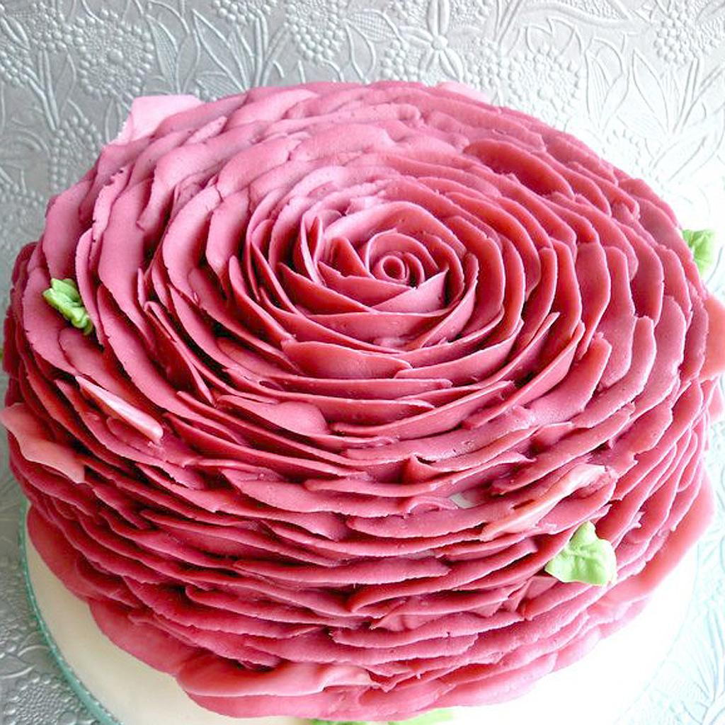 Rose Cake En Pate A Sucre