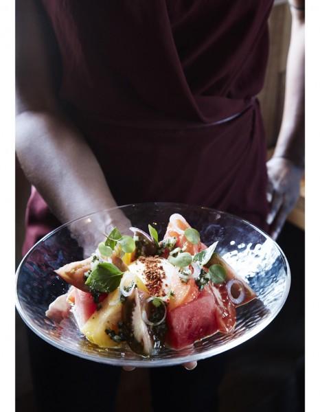 Salade de past que la burrata 25 salades sucr es sal es savourer tout l t elle table - Salade de pasteque ...