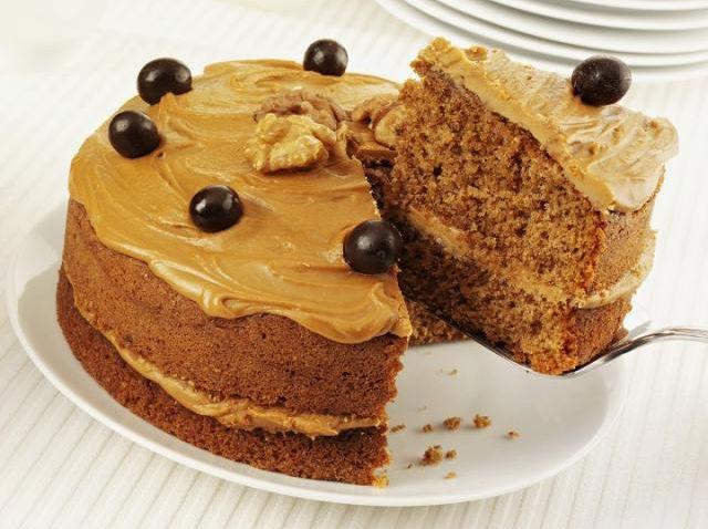 gâteau au café et aux noix pour 8 personnes - recettes elle à table