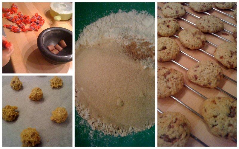 cookies flocons d 39 avoine et daims pour 6 personnes. Black Bedroom Furniture Sets. Home Design Ideas