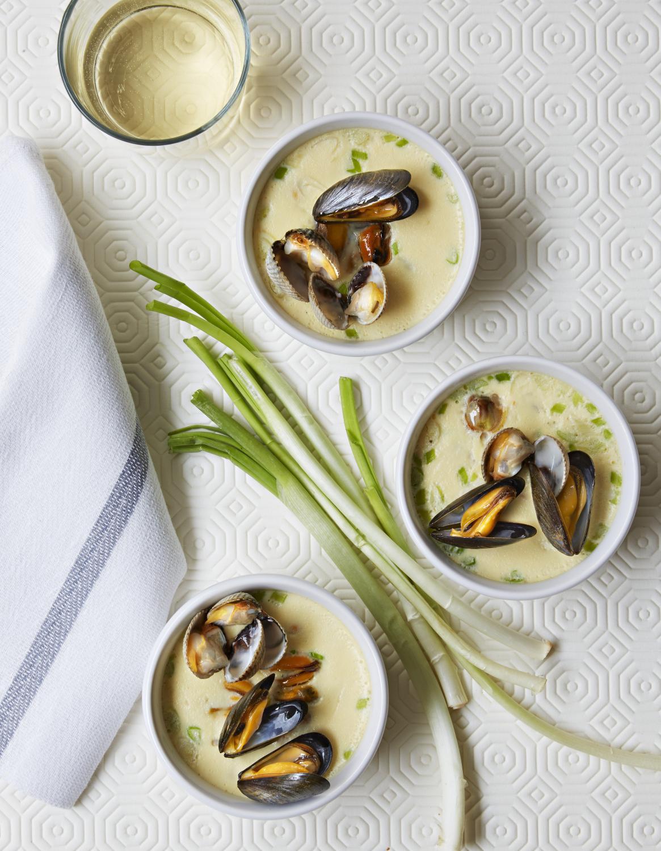 Flans de coquillages au curry pour 4 personnes recettes for Entree originale hiver