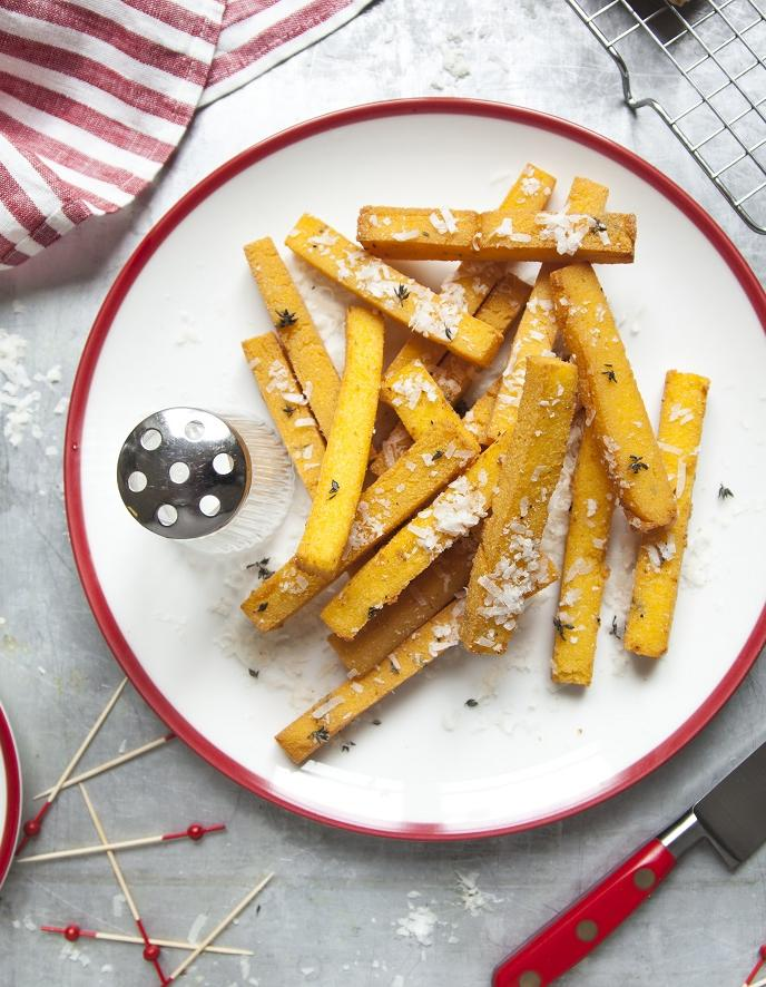 Frites de polenta au parmesan pour 4 personnes - Recettes