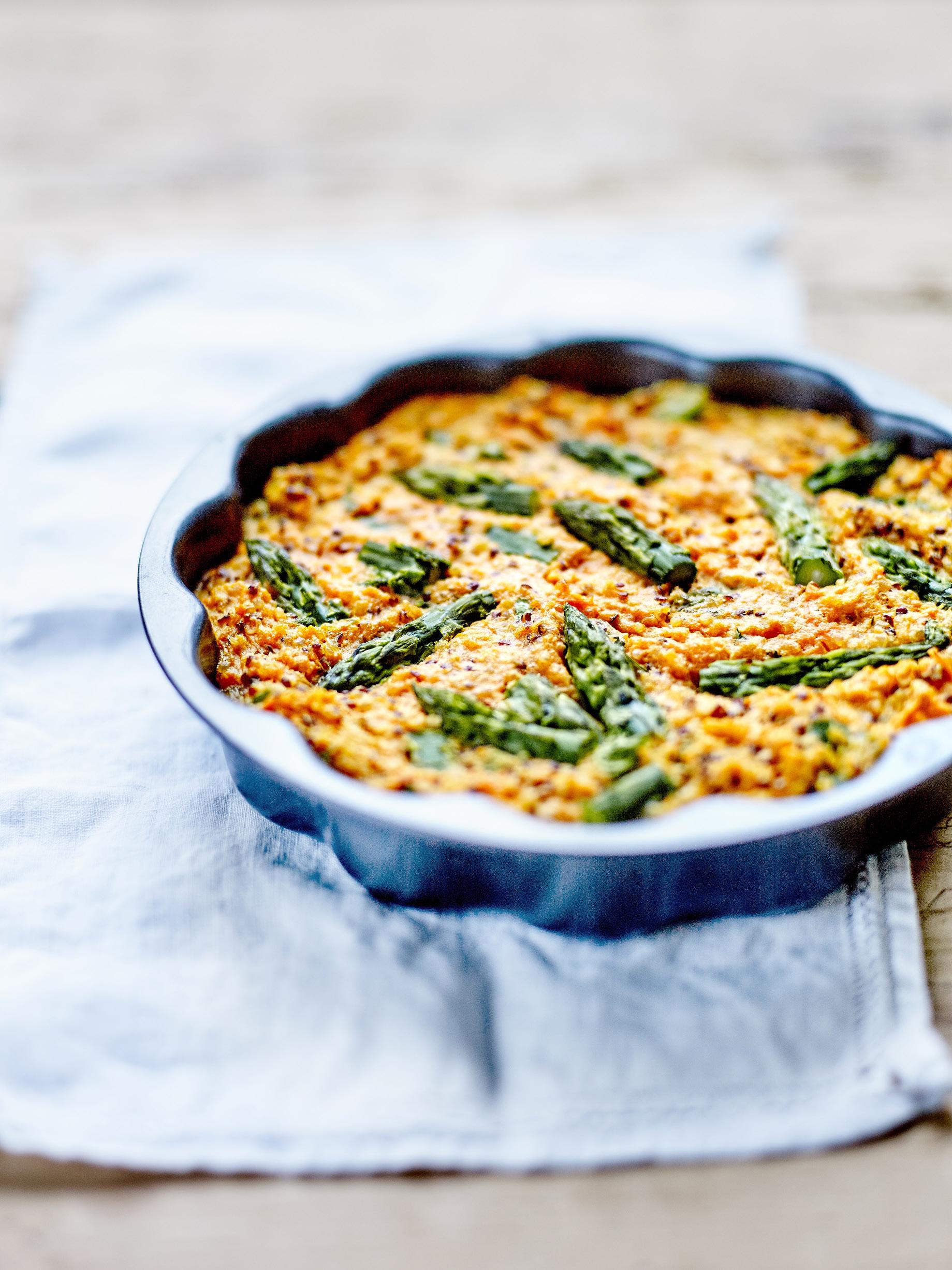 Petits g teaux de quinoa patate douce et asperges pour 6 - Idee recette patate douce ...