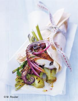Petits poulpes et fenouil grill s en kebab pour 4 personnes recettes elle table - Petite recette de cuisine ...