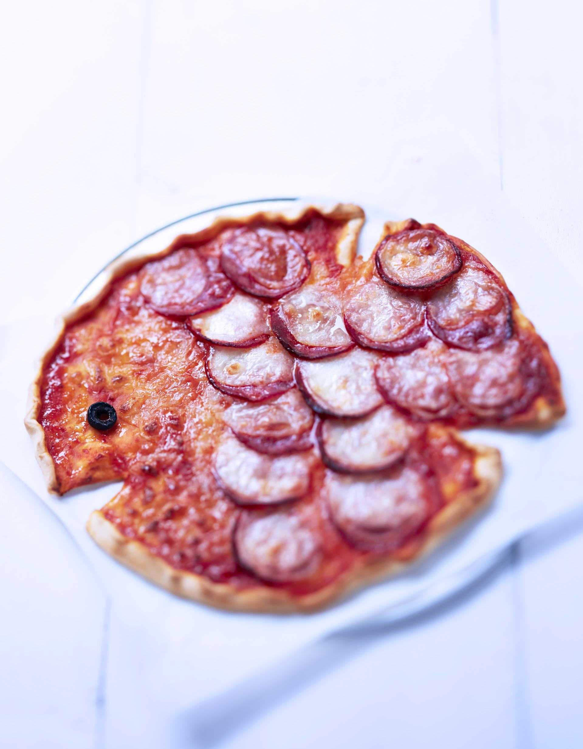 Pizza en forme de poisson pour 4 personnes recettes elle for En 3 pizzas te olvido