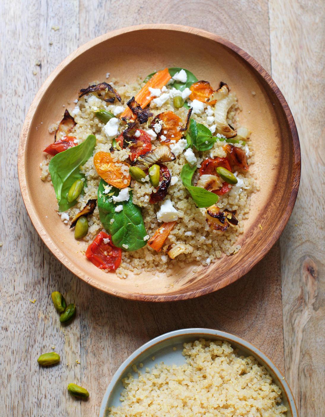 Quinoa aux l gumes et pistaches pour 6 personnes recettes elle table - Recette cuisine france 2 telematin ...