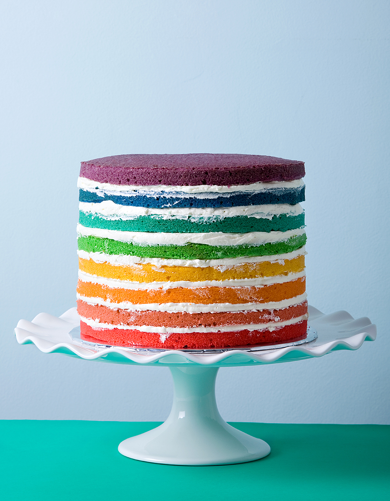 Recette Cake Design Rainbow : Rainbow cake ScrapCooking pour 10 personnes - Recettes ...