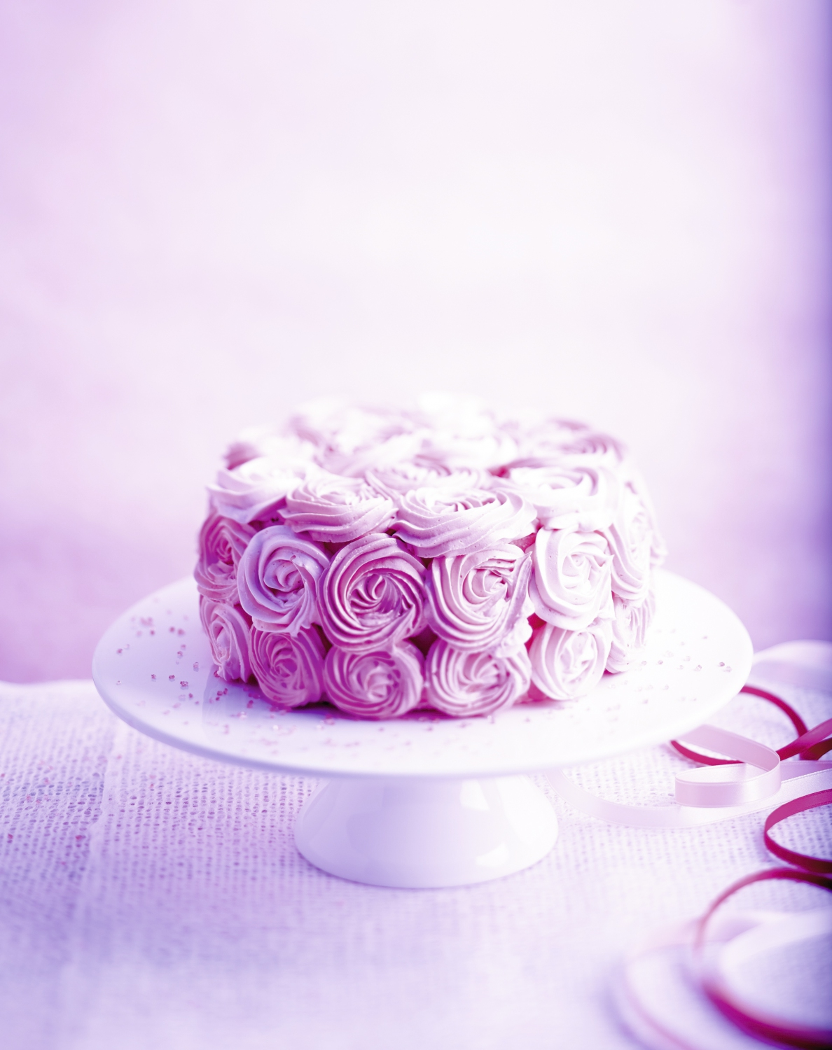 rose cake pour 6 personnes recettes elle table. Black Bedroom Furniture Sets. Home Design Ideas