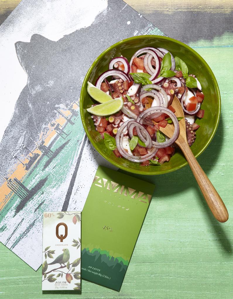 Salade de poulpe la cacha a pour 6 personnes recettes - Comment cuisiner un poulpe ...