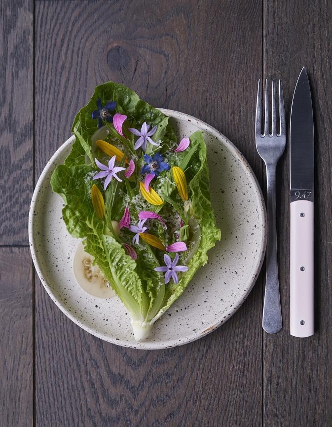 Salade verte comt et fleurs pour 4 personnes recettes elle table - Recette salade verte ...
