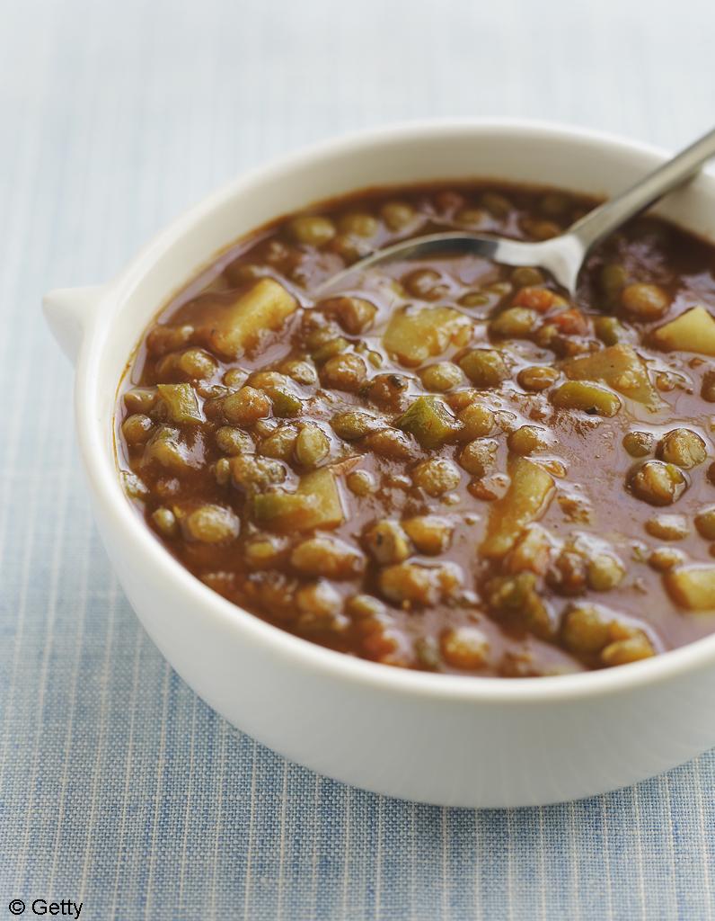 Soupe de lentilles la coriandre et au citron pour 4 personnes recettes elle table - Site de recettes cuisine ...
