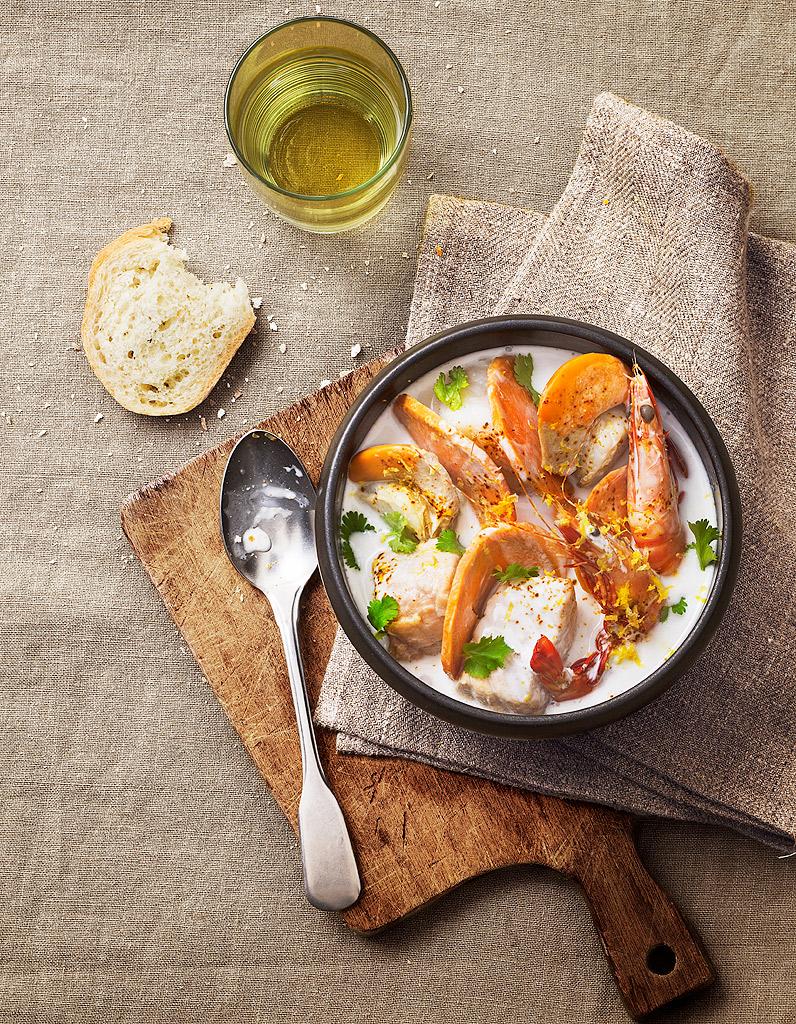 Soupe de poisson exotique pour 6 personnes recettes elle table - Comptoir poisson exotique ...