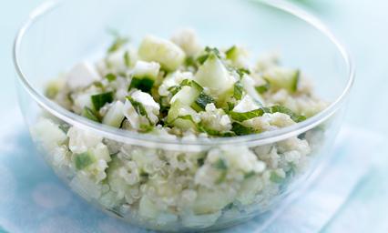 Taboul de quinoa concombre de france menthe et feta pour - Recette de cuisine tele matin france2 ...