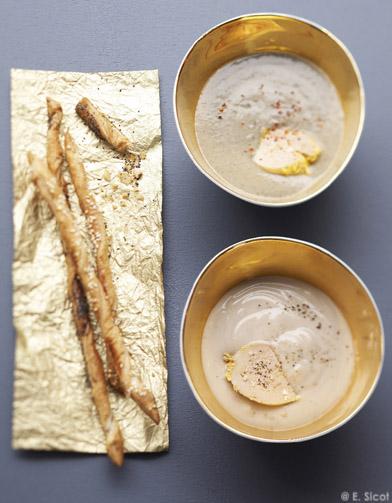 velout de lentilles au foie gras pour 4 personnes recettes elle table. Black Bedroom Furniture Sets. Home Design Ideas