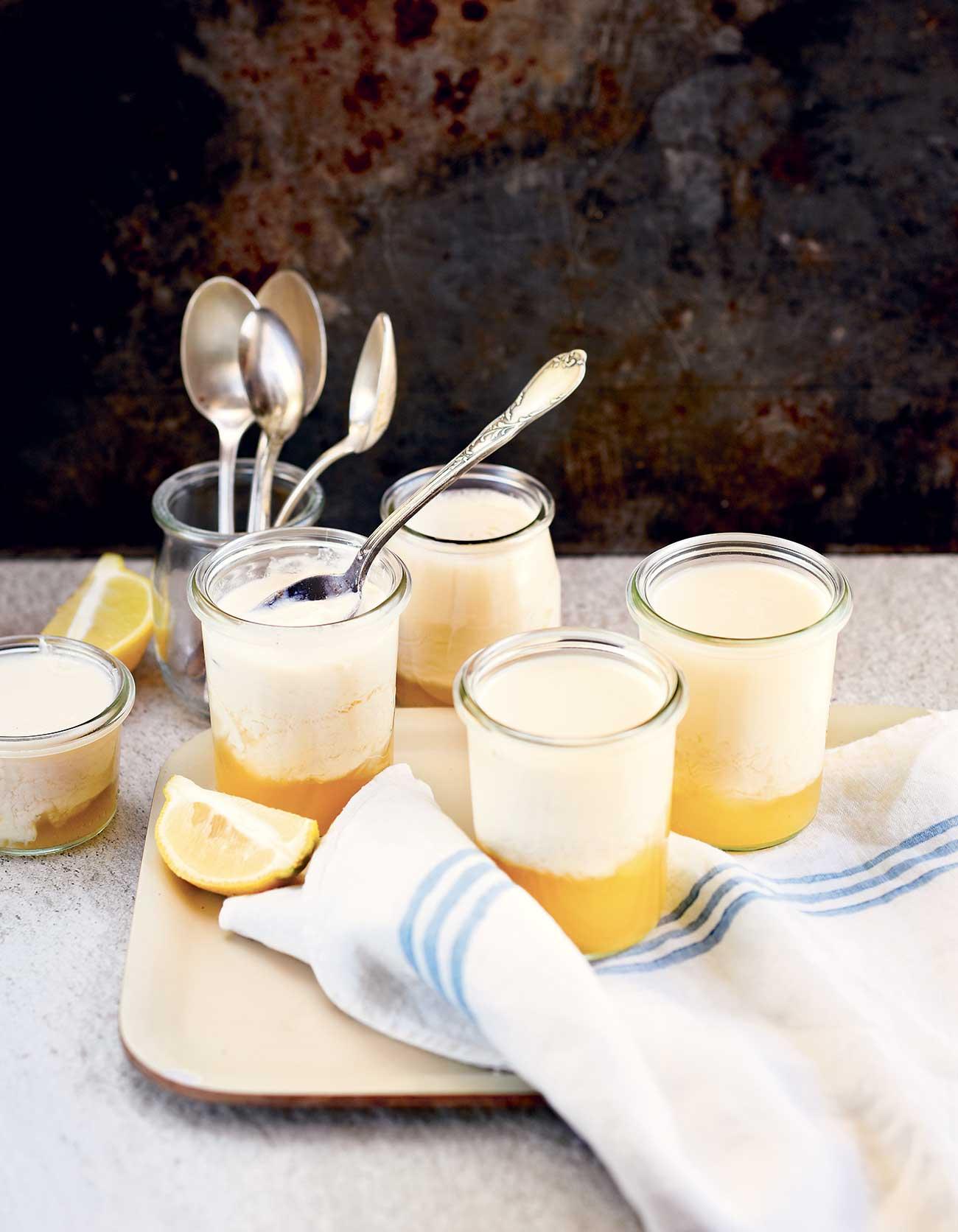 yaourts au soja et au citron thermomix pour 6 personnes recettes elle table. Black Bedroom Furniture Sets. Home Design Ideas
