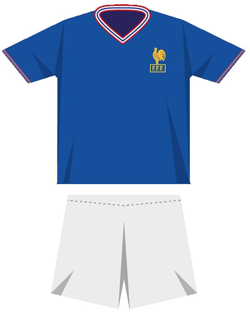 Le maillot de l quipe de france de football en 1966 coupe du monde de football le maillot - Maillot equipe de france coupe du monde 2014 ...