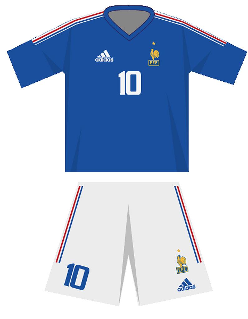 Le maillot de l quipe de france de football en 2002 - Equipe de france coupe du monde 2002 ...