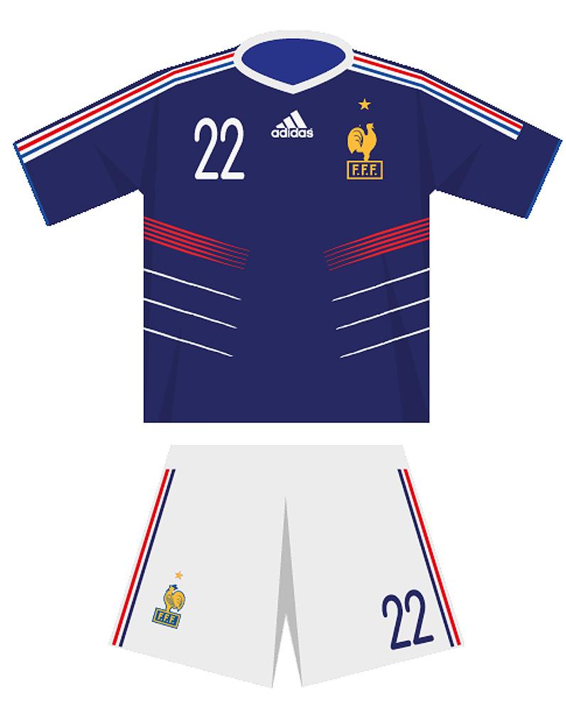 Le maillot de l quipe de france de football en 2010 - Cadre maillot de foot ...
