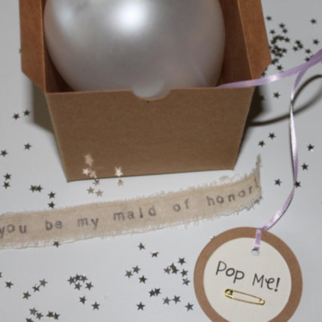 Annonce Témoin Mariage tout le ballon à exploser - 11 adorables demandes de témoin de mariage - elle
