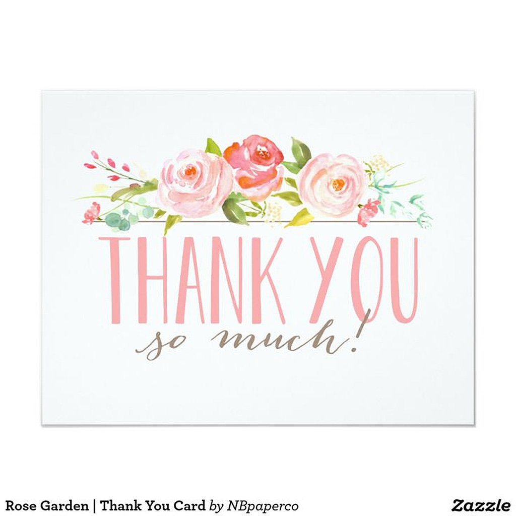 carte de remerciement fleurie 20 cartes de remerciement qui changent elle. Black Bedroom Furniture Sets. Home Design Ideas