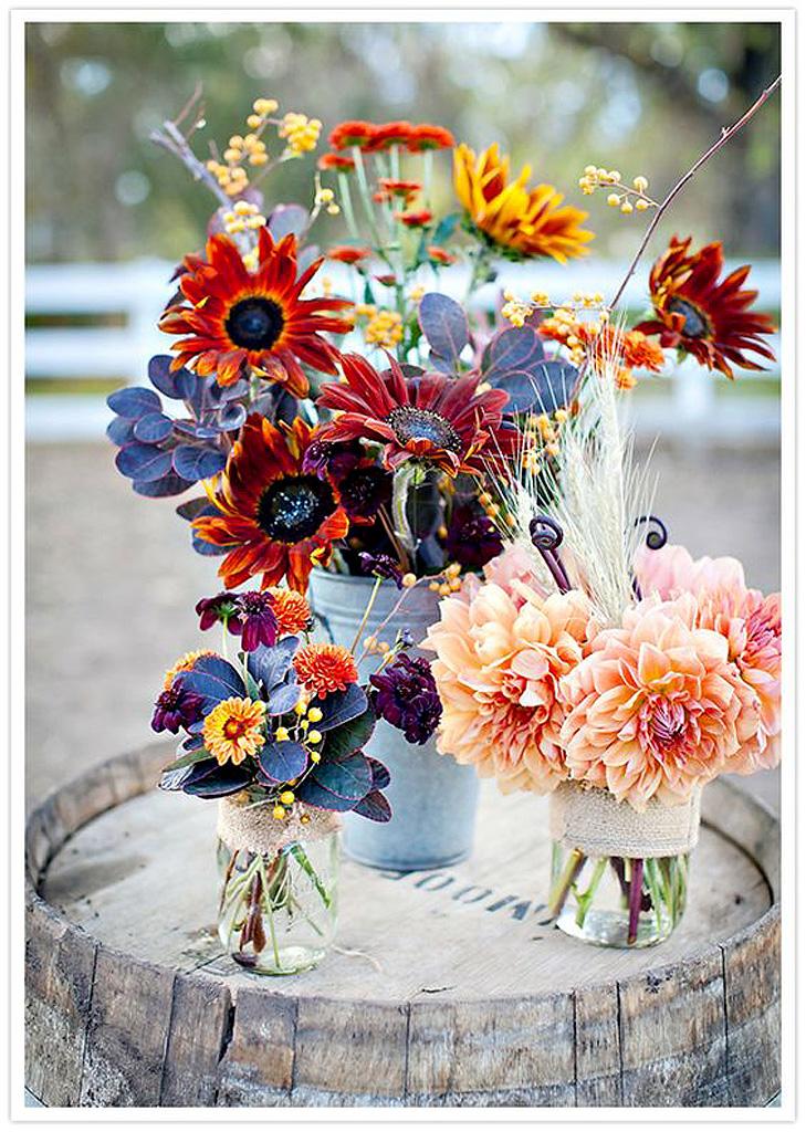 composition florale automne nos 20 id es de compositions florales copier elle. Black Bedroom Furniture Sets. Home Design Ideas