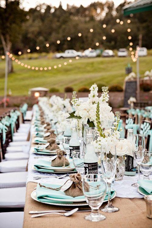 d coration de table de mariage bleu et blanc les d corations de tables de mariage qui font de. Black Bedroom Furniture Sets. Home Design Ideas