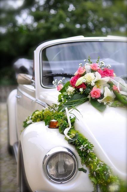 voiture mariage fleurs - 10 jolies façons de décorer sa voiture ...