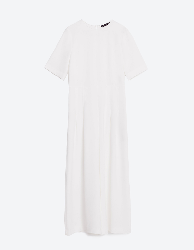 combinaison blanche tendance zara 30 combinaisons blanches pour moderniser la robe de mari e. Black Bedroom Furniture Sets. Home Design Ideas