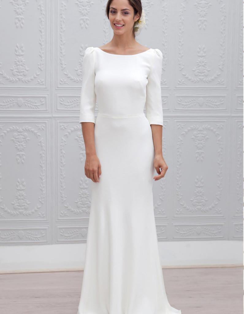 Robe de mari e d 39 hiver classique 22 robes de mari e d for Robes de chambre pour mariage