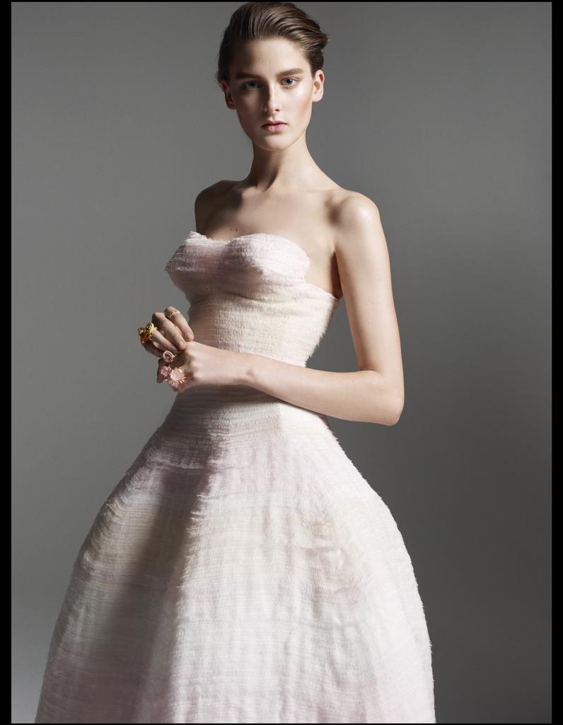 robe du soir en organza brod de bandes en mousseline de soie dior couture vive la fashion. Black Bedroom Furniture Sets. Home Design Ideas