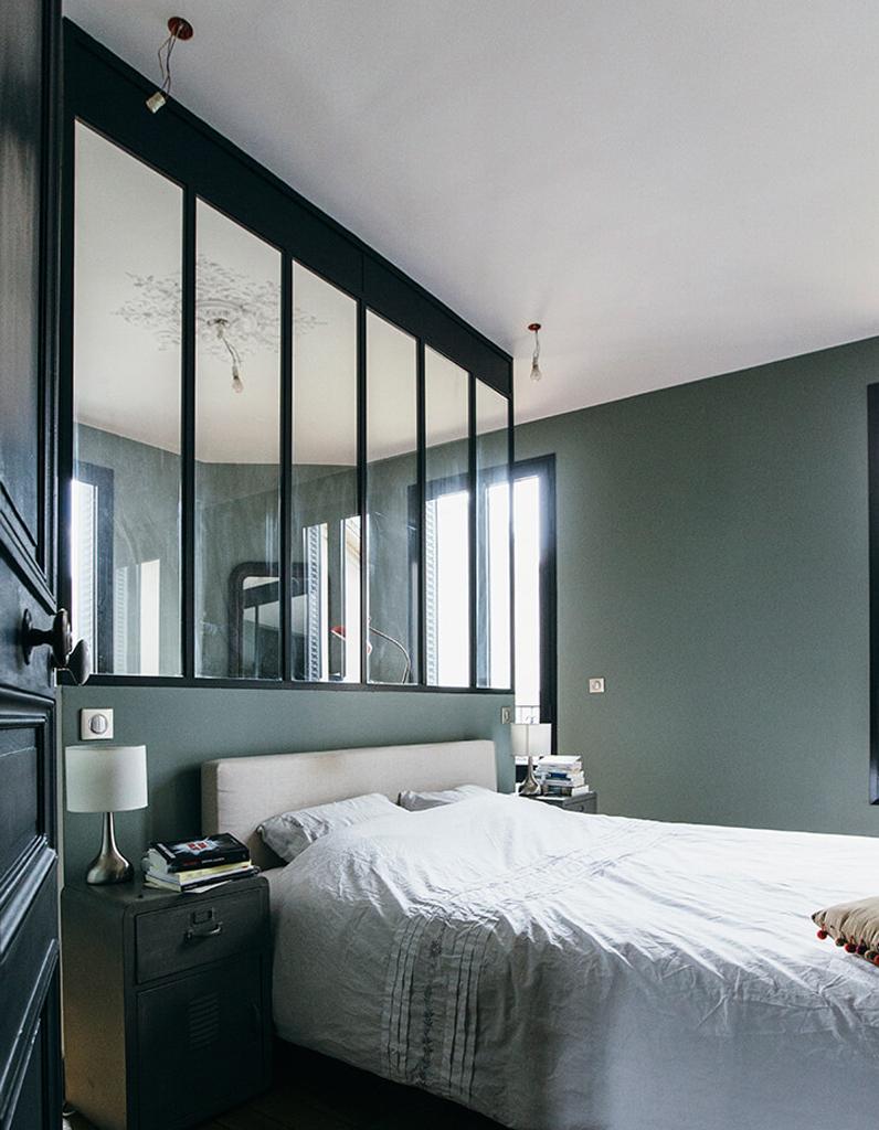 Chambre vert olive - Le vert dans la chambre - Elle