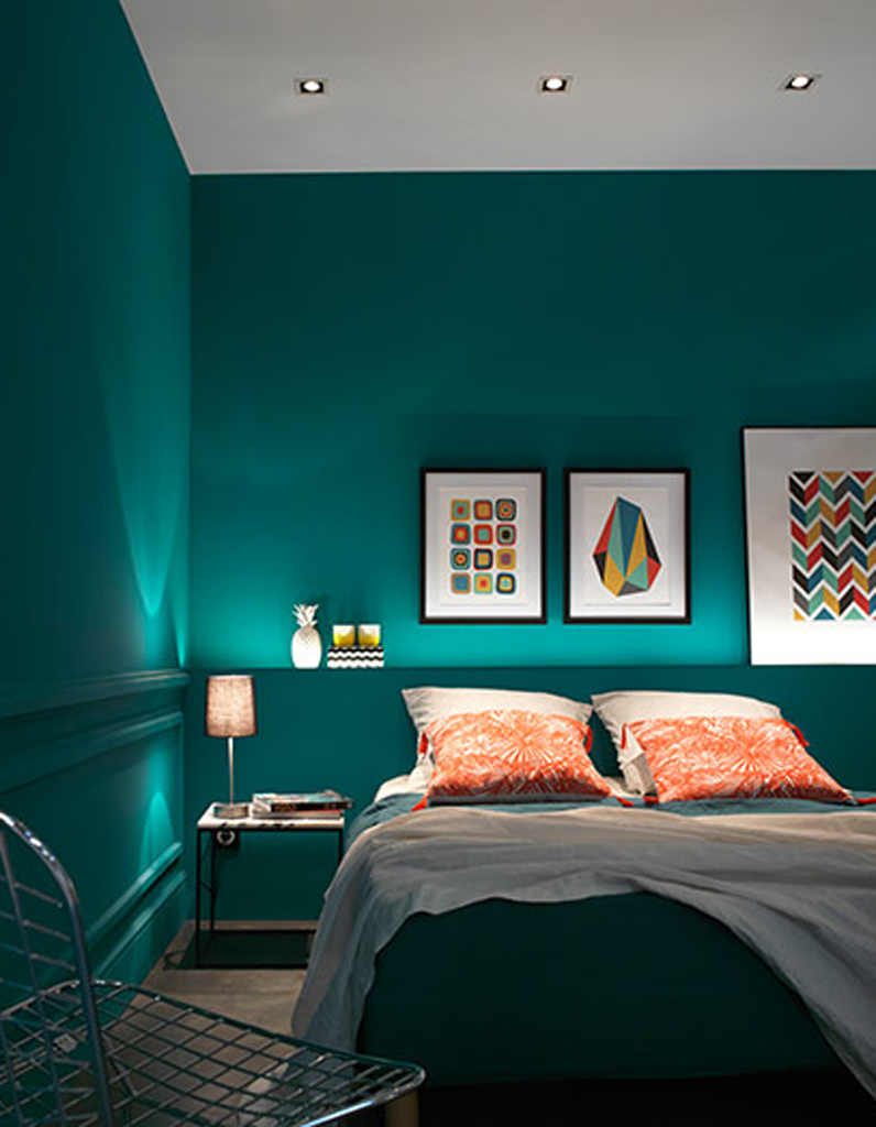 chambre vert paon le vert dans la chambre elle. Black Bedroom Furniture Sets. Home Design Ideas