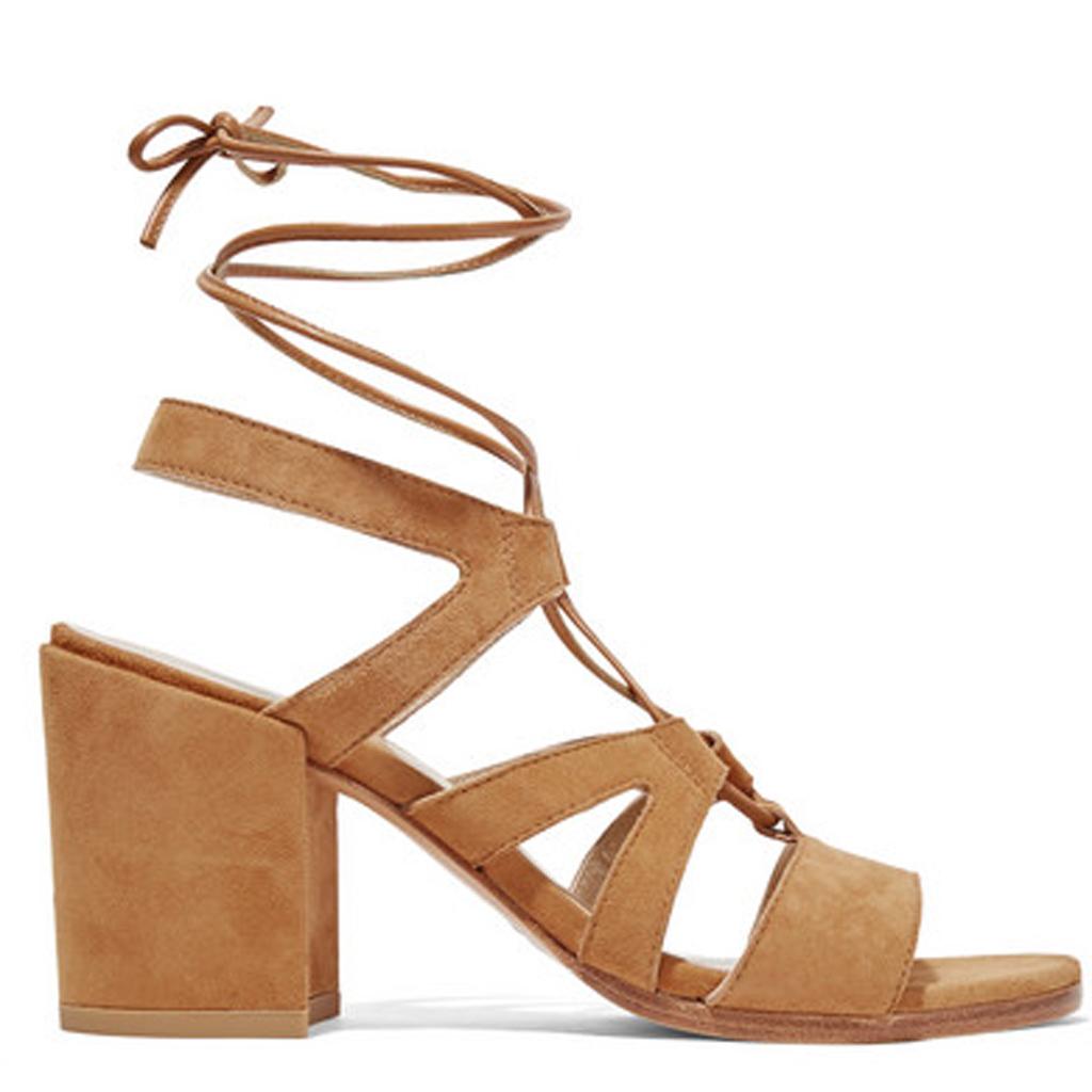 sandales talon carr beige pour quelles chaussures talons carr s craquer elle. Black Bedroom Furniture Sets. Home Design Ideas