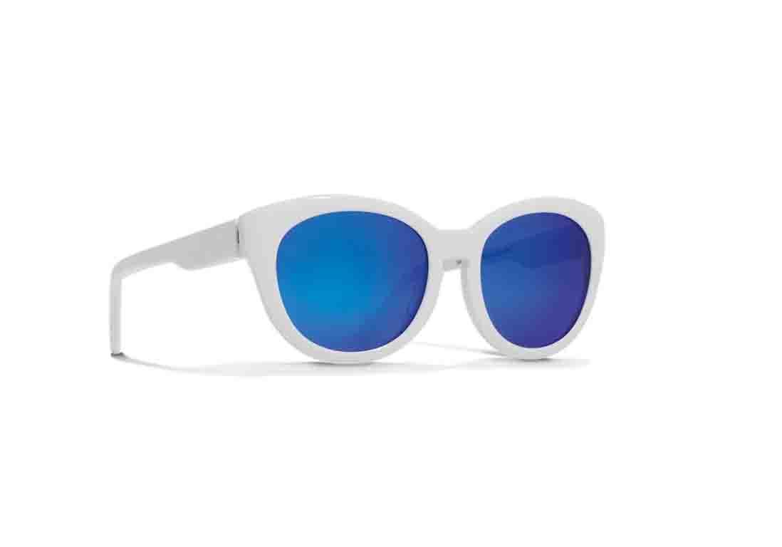 Lunettes de soleil miroir verres bleus courr ges eyewear for Lunette soleil verre bleu miroir