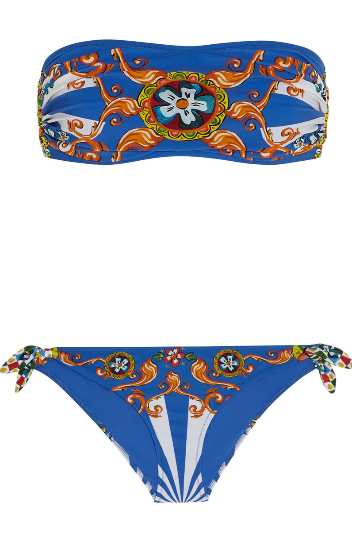 maillot de bain bandeau bleu dolce gabbana 25 maillots de bain bandeau pour chiller la. Black Bedroom Furniture Sets. Home Design Ideas