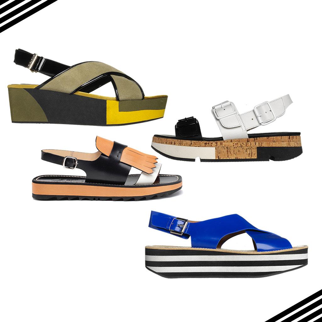 sandales plateforme 22 paires de sandales plateforme styl es elle. Black Bedroom Furniture Sets. Home Design Ideas