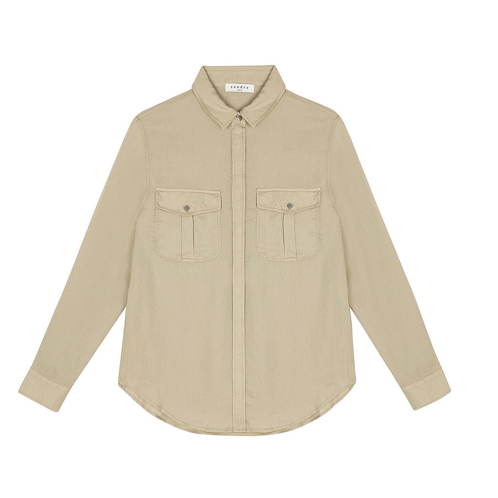 chemise sandro une chemise d homme pour l t oui madame elle. Black Bedroom Furniture Sets. Home Design Ideas