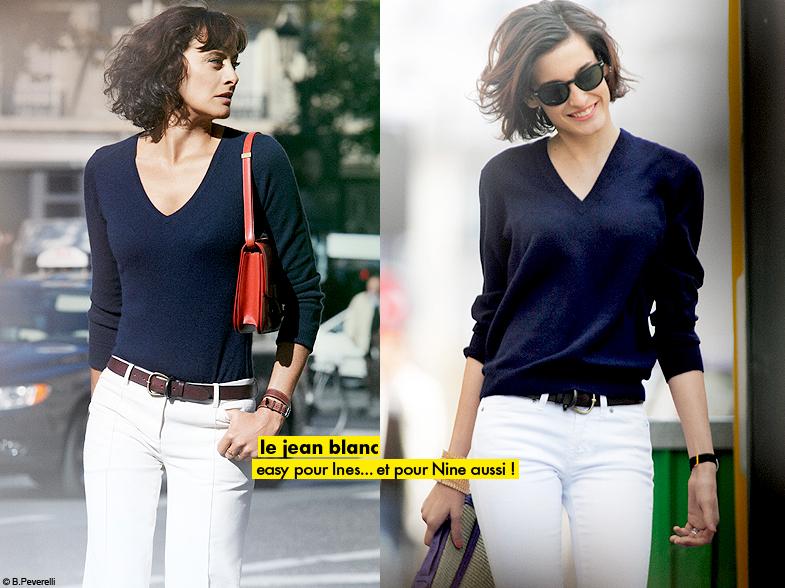 Mode Diaporama Look Tendance Ines De La Fressange Nine Jean Blanc La Le On De Style D 39 In S Elle