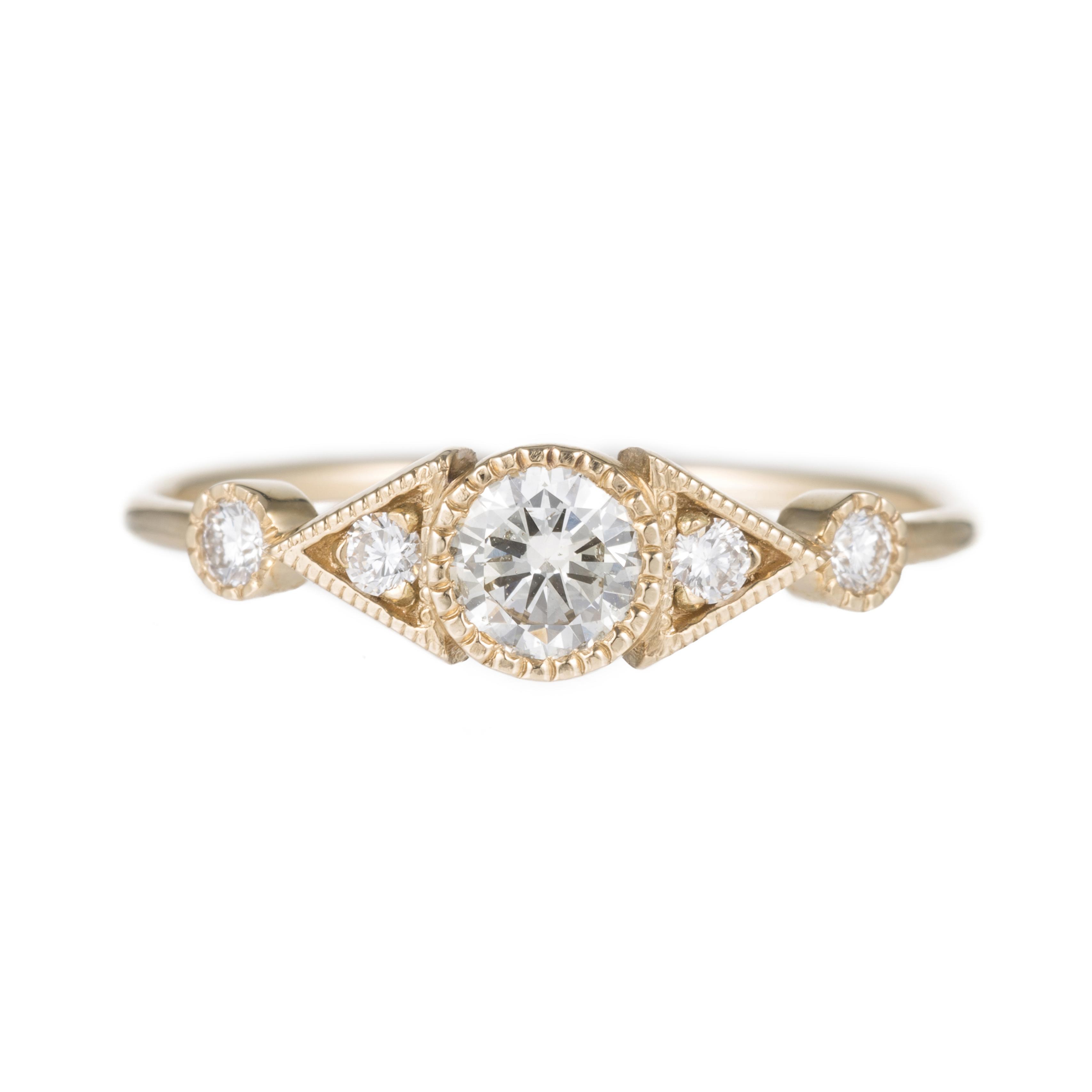 Fabulous Bague diamant art déco Jennie Kwon chez Hod - 10 bagues en diamant  HS53
