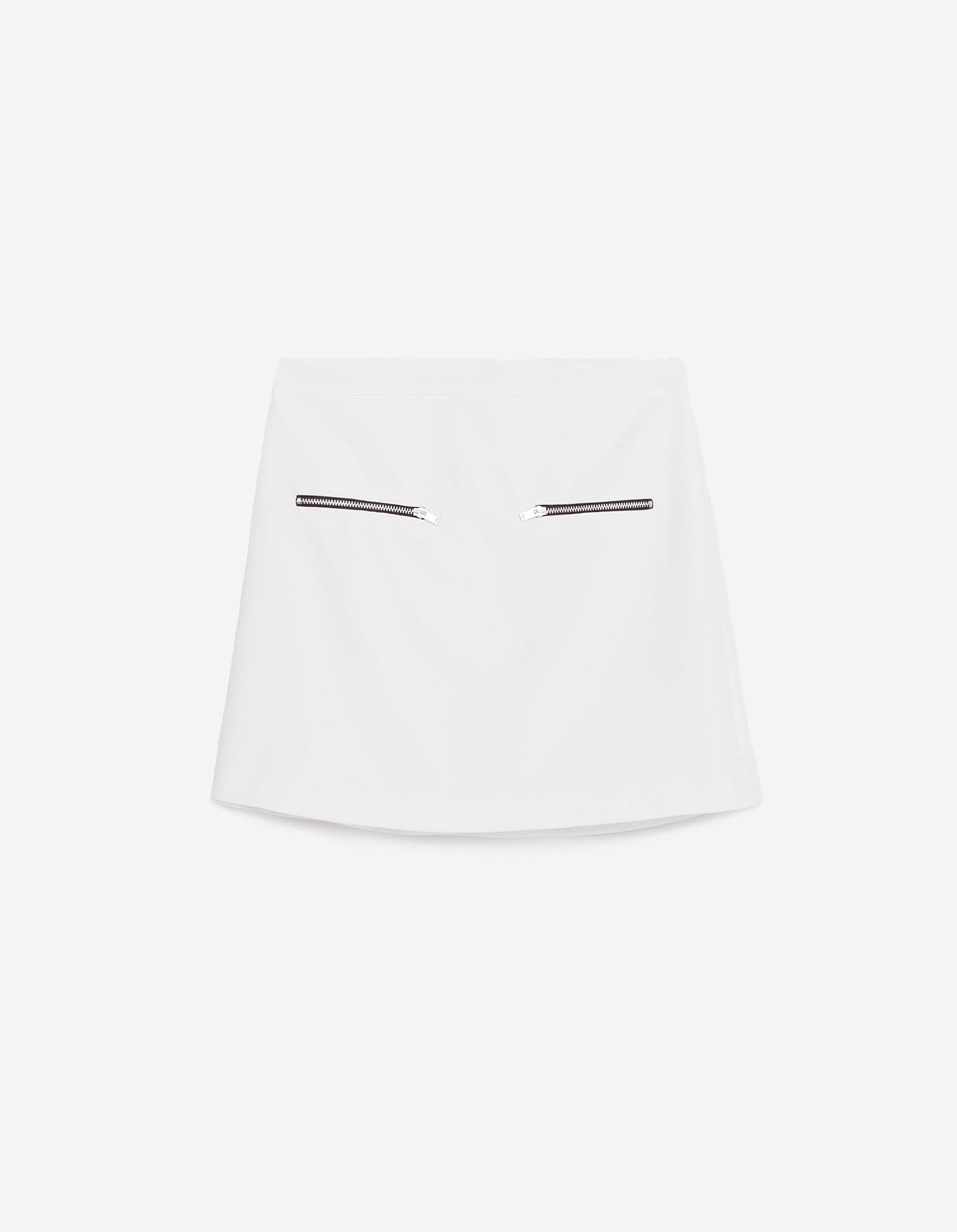 jupe blanche courte zara 20 jupes blanches pour amorcer l 39 t elle. Black Bedroom Furniture Sets. Home Design Ideas