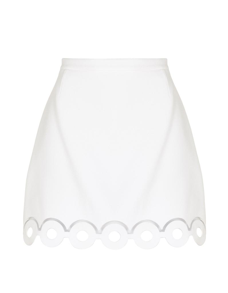 jupe blanche l gante carven 20 jupes blanches pour amorcer l 39 t elle. Black Bedroom Furniture Sets. Home Design Ideas
