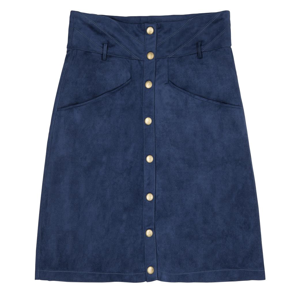 jupe taille haute boutonn e 23 jupes taille haute pour. Black Bedroom Furniture Sets. Home Design Ideas