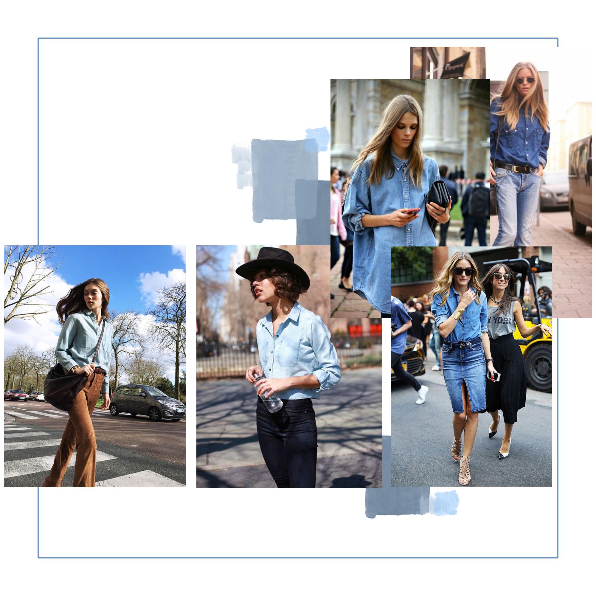 Comment porter une jupe en jean fashion designs - Comment porter une chemise en jean femme ...