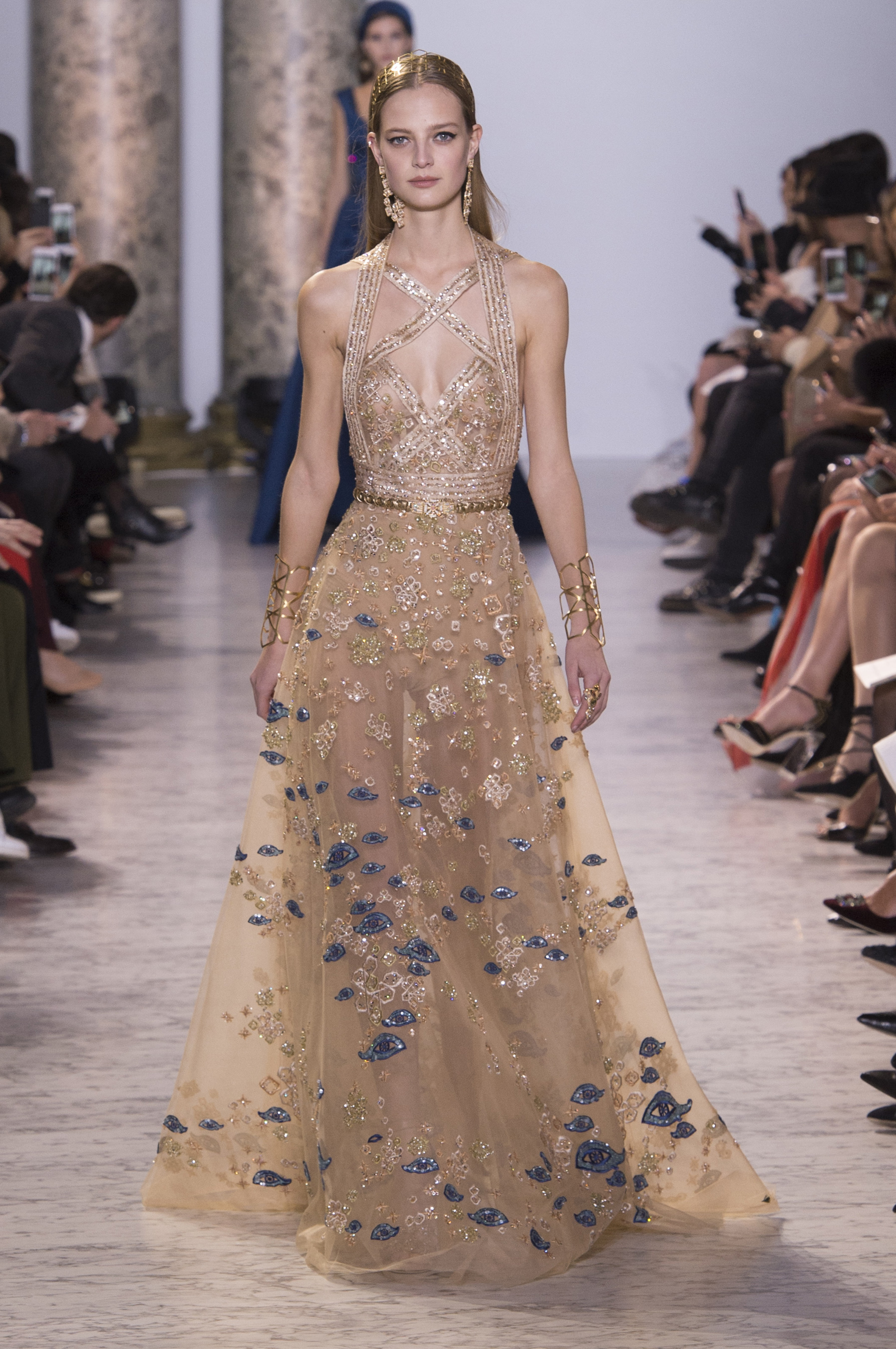 D fil elie saab haute couture printemps t 2017 paris for Haute couture 2017