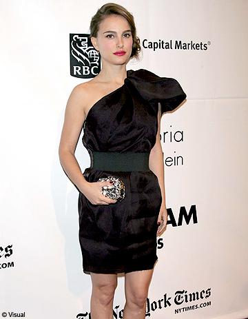 Natalie portman porte une robe lanvin pour h m elle for Porte jarretelle h m