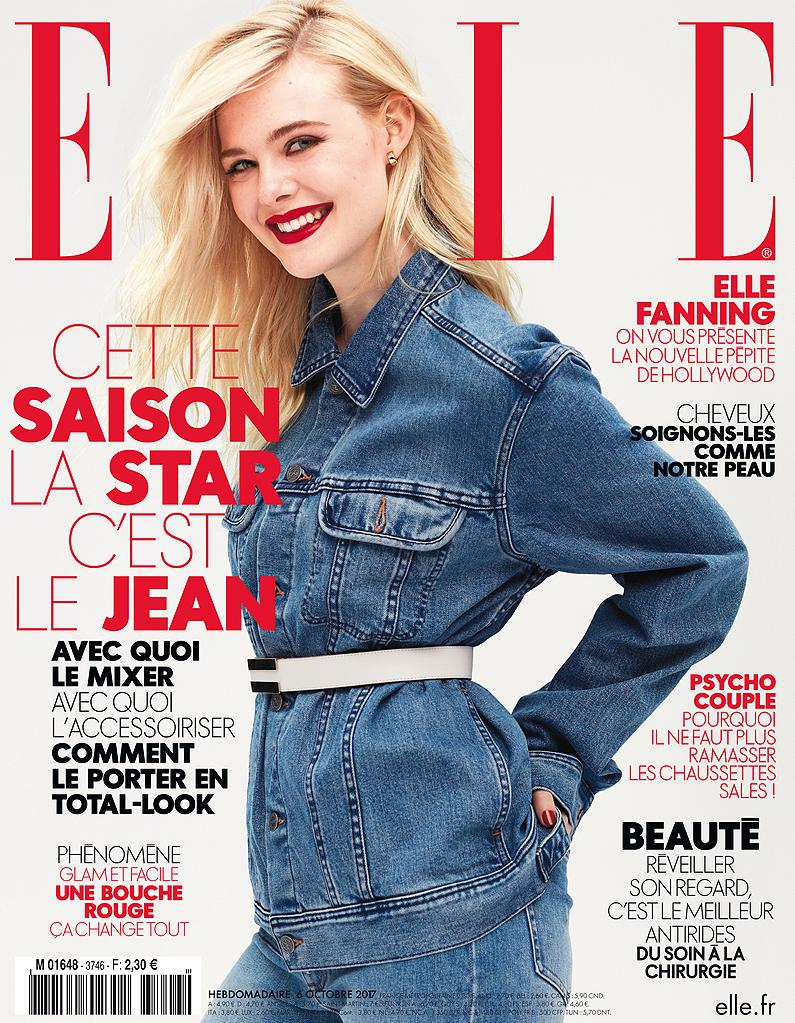 elle fanning en couverture de elle cette semaine elle. Black Bedroom Furniture Sets. Home Design Ideas