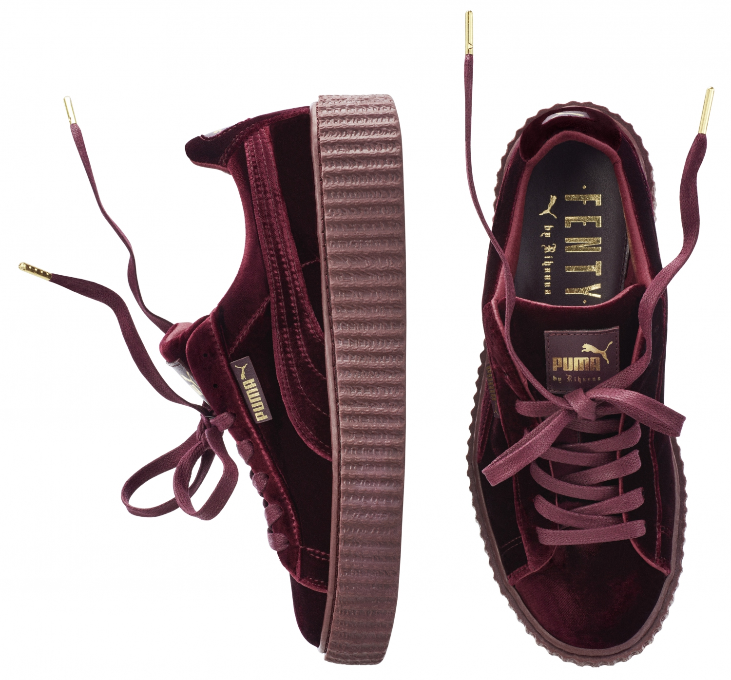 Puma Creepers Rihanna Bordeaux Velour