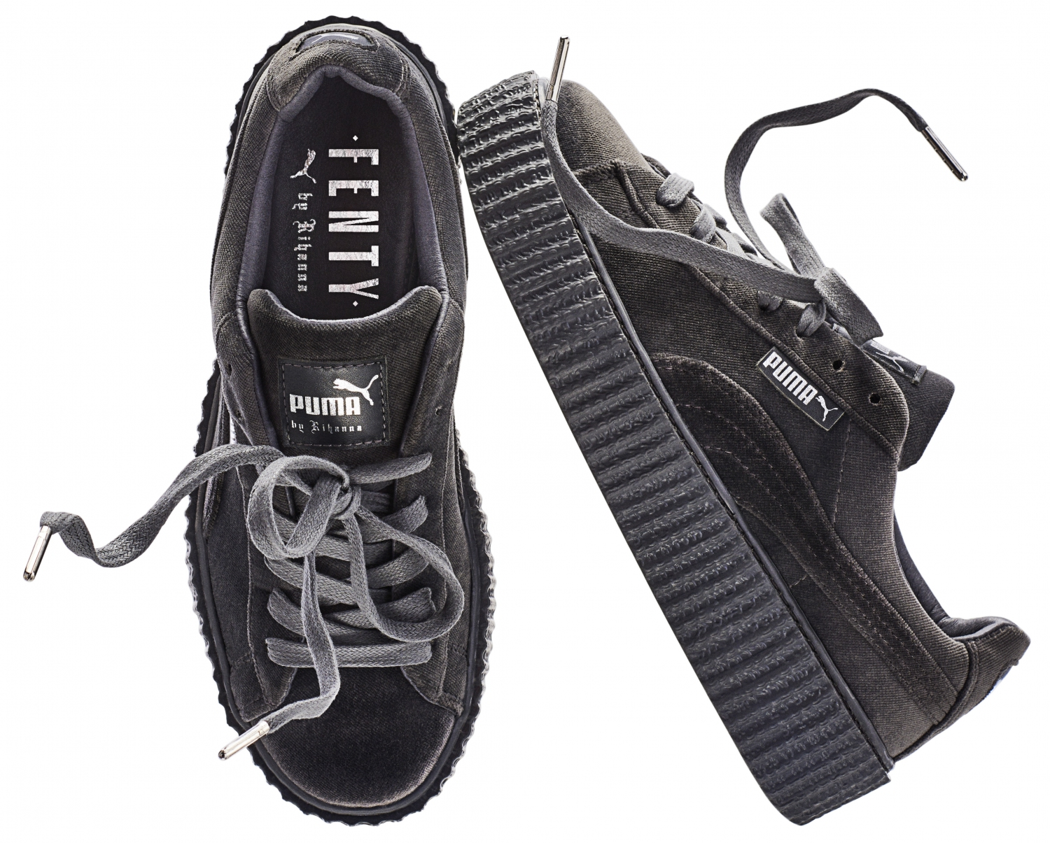 Puma Creepers Velours Gris