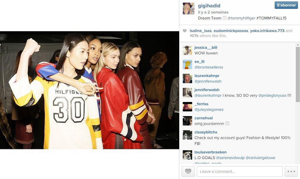 Gigi hadid les 101 comptes instagram suivre pendant la fashion week elle - Qui suivre sur instagram ...